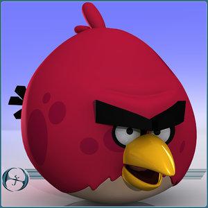 angry bird elder 3d model