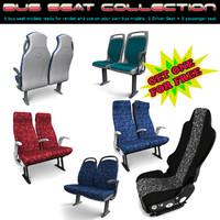 bus seat passenger c4d