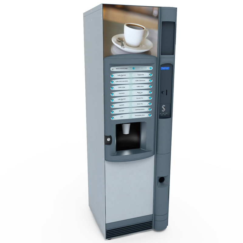 3ds max coffee vending machine v1