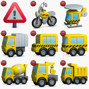 construction icons small pack 3 3d max
