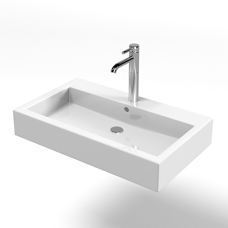3d model duravit vero washbasin for Sketchup bathroom sink