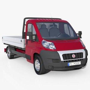 3d fiat ducato semi truck model