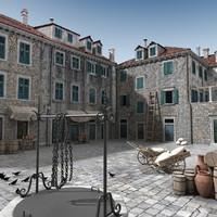 3d dubrovnik medieval town model