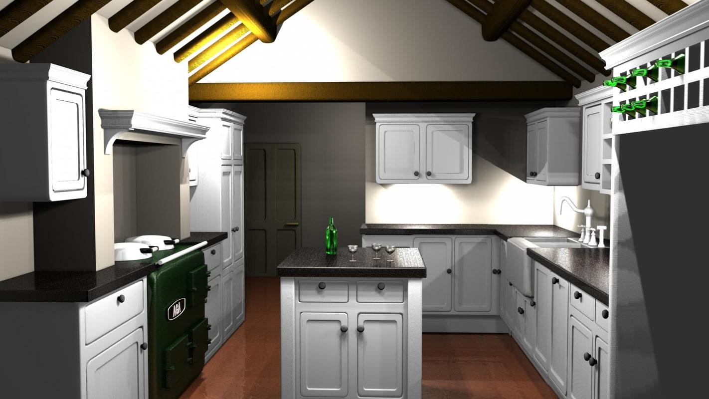 architectural visualization end kitchen ma