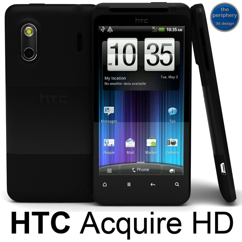 3d model htc acquire smartphone