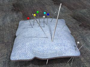 pin-cushion needles pins 3d c4d
