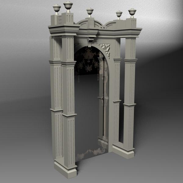 3d model ornate bar mirror