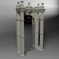 3d model ornate bar mirror