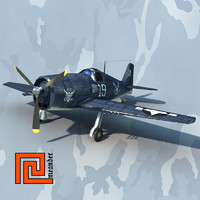 Low poly Grumman F6F