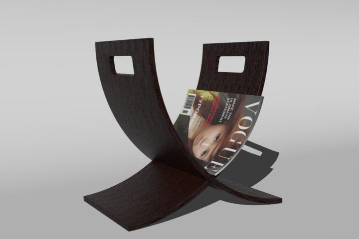 3d model magazine rack