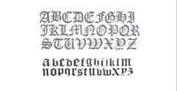 3d model alphabet old englisch font