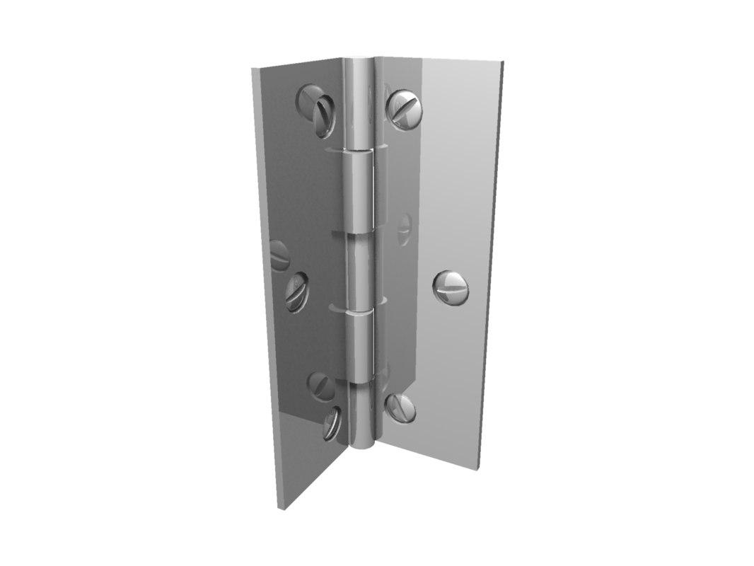 3d model door hinge