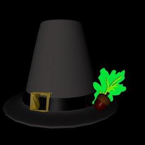 3d model pilgrim hat