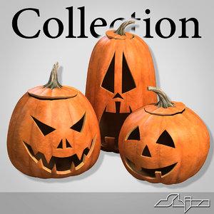 halloween pumpkin heads 3d max