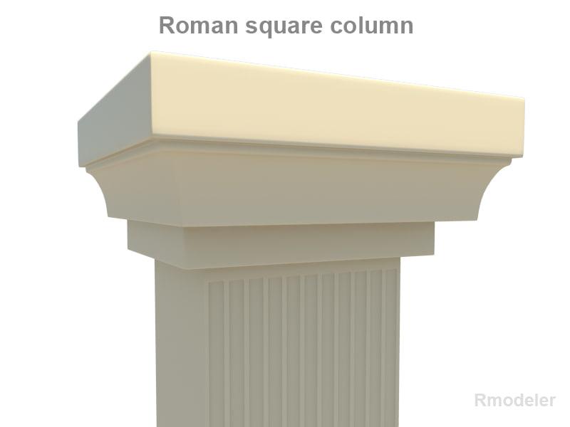 3d column roman square model