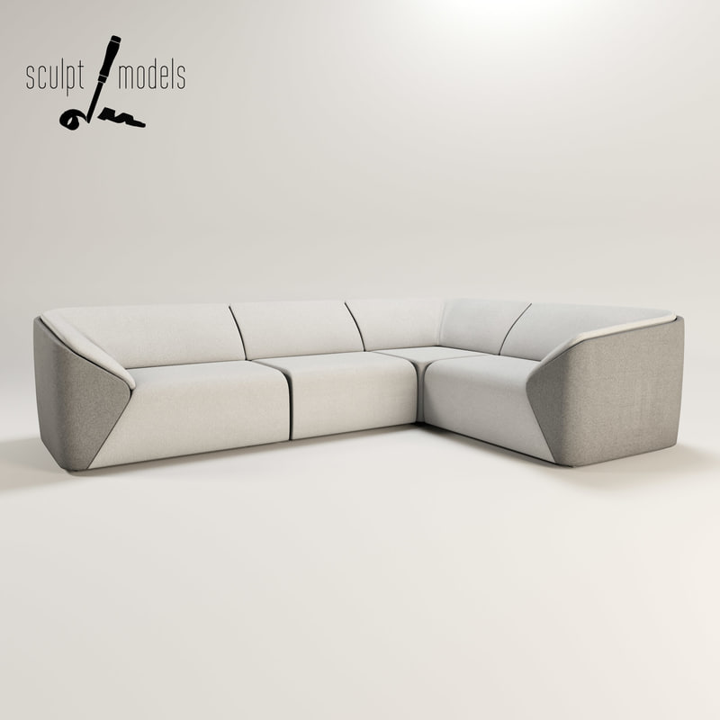 3ds max slice corner sofa