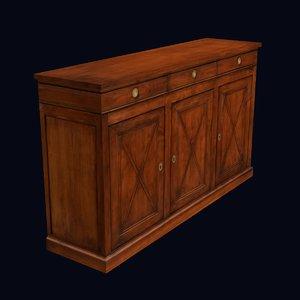 old cabinet 3d model