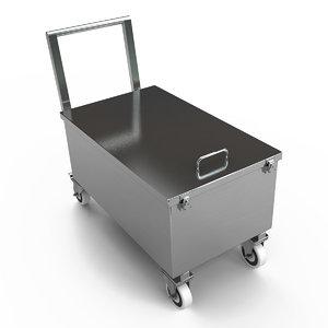 steel weight trolley 3d obj