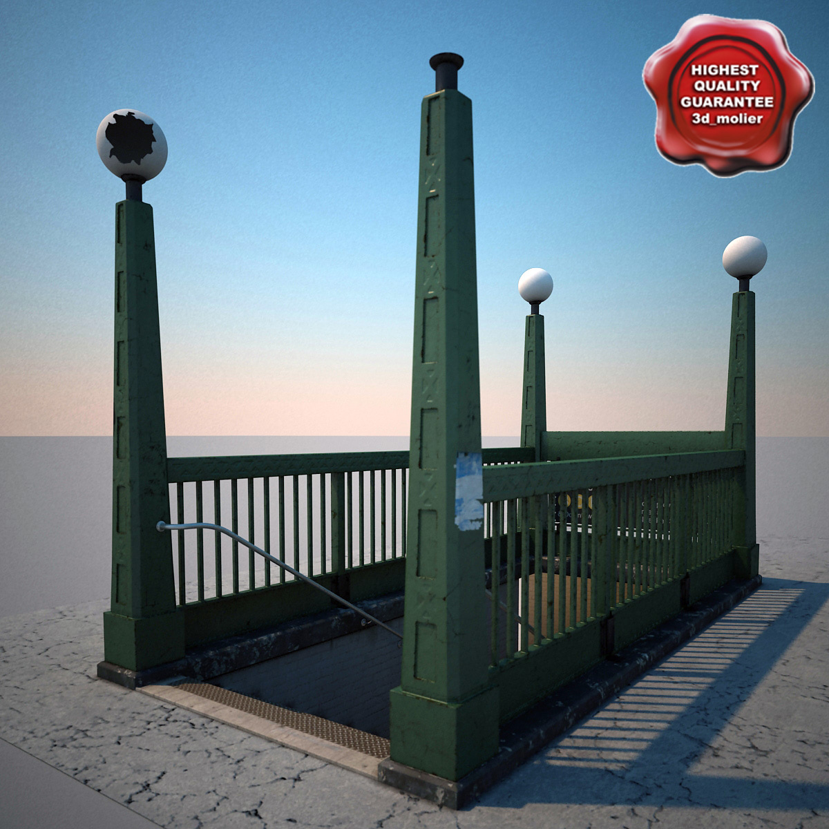 3d c4d subway entrance v1
