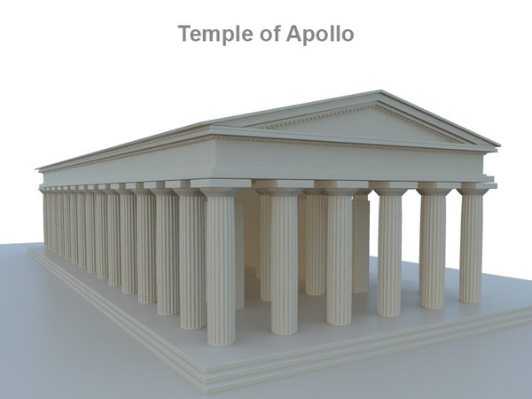 3ds max temple apollo