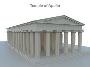 3ds max temple apollo