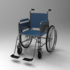 3d model wheel chair
