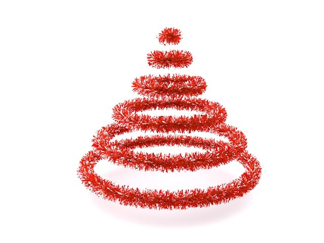 3d model of tinsel tree