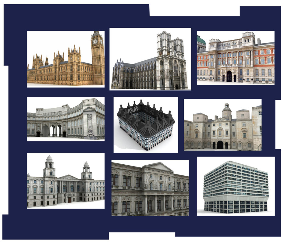 3ds max westminster abbey building