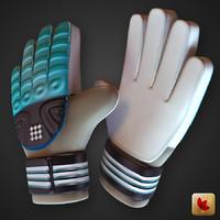 glove soccer goalkeeper 3d c4d