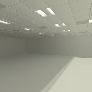 3d modular acoustic ceiling model