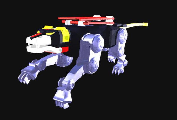 black lion 3d model