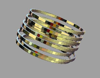 3d bracelet ring