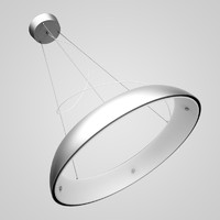 chrome hanging lamp 02 max