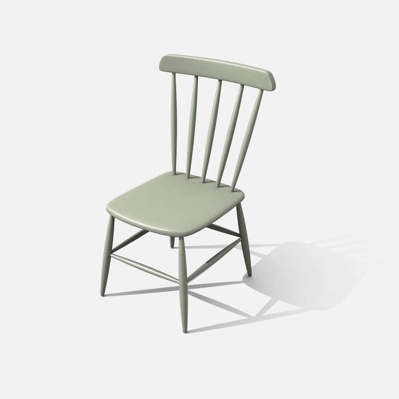 3d old wooden chair model
