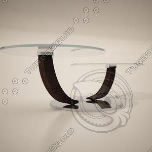 3ds max cattelan italia cobra coffee table