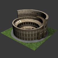 colosseum theatre gladiator 3d model
