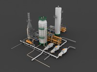 3d distillation unit model
