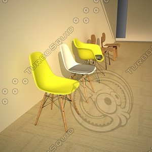 3ds max eames chair 1