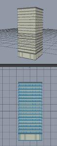 3d model of skyscraper