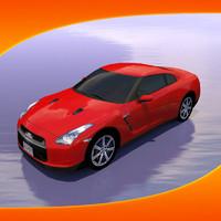 nissan gt-r car 3d max