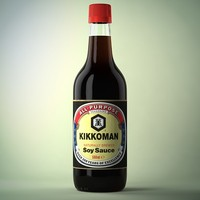 soy sauce bottle obj