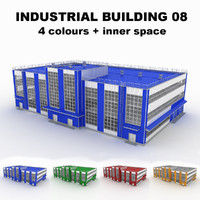 3d model large industrial building 08