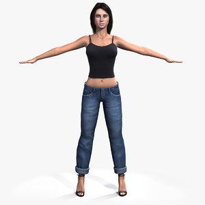 3d model girl woman female