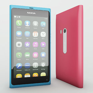 3d 3ds photorealistic nokia n9 smartphone
