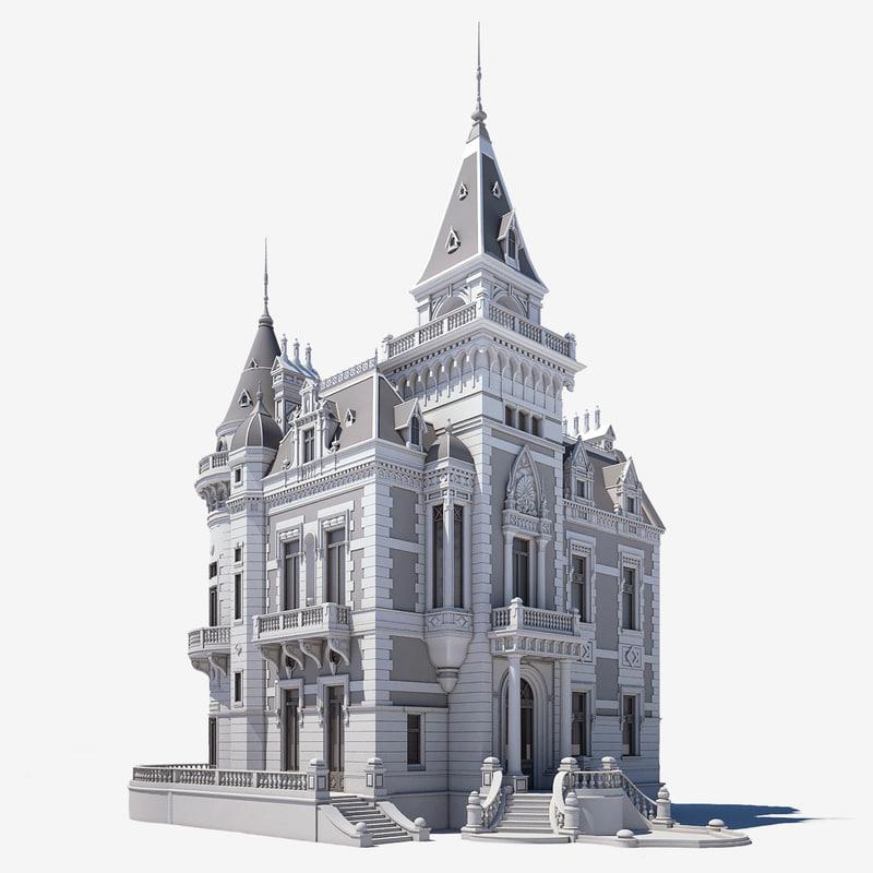 manor ancient 3d max