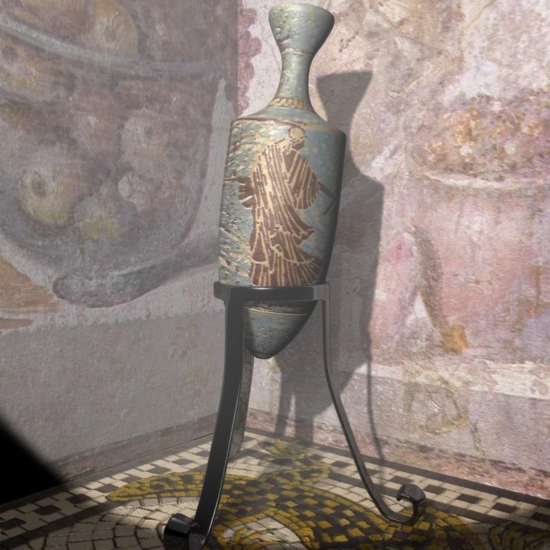 free roman amphora 3d model