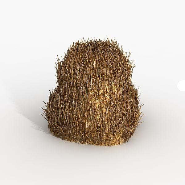 stack hay 3d obj