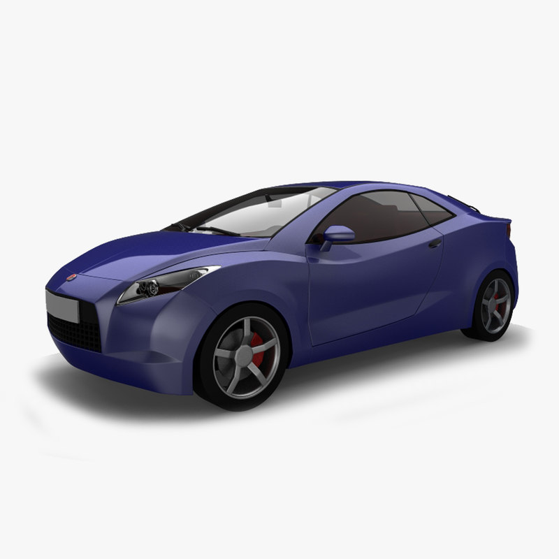 car motors coupe segment 3d model