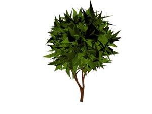 3d model small tree