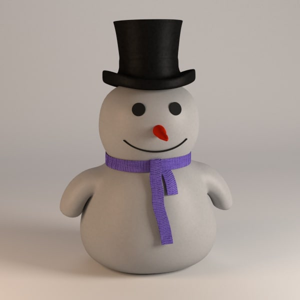3ds snowman snow man